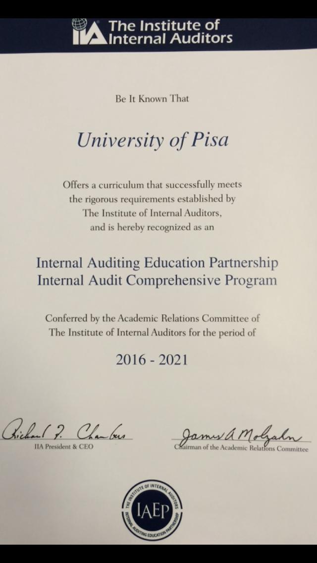 Certificazione IAEP School
